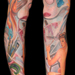 Tattoos - Painter Pin-Up Leg Sleeve - 66269
